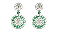 Earrings-isolated-on-a-white-background