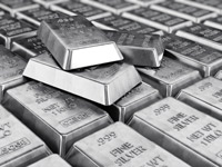 Silver-ingots-background