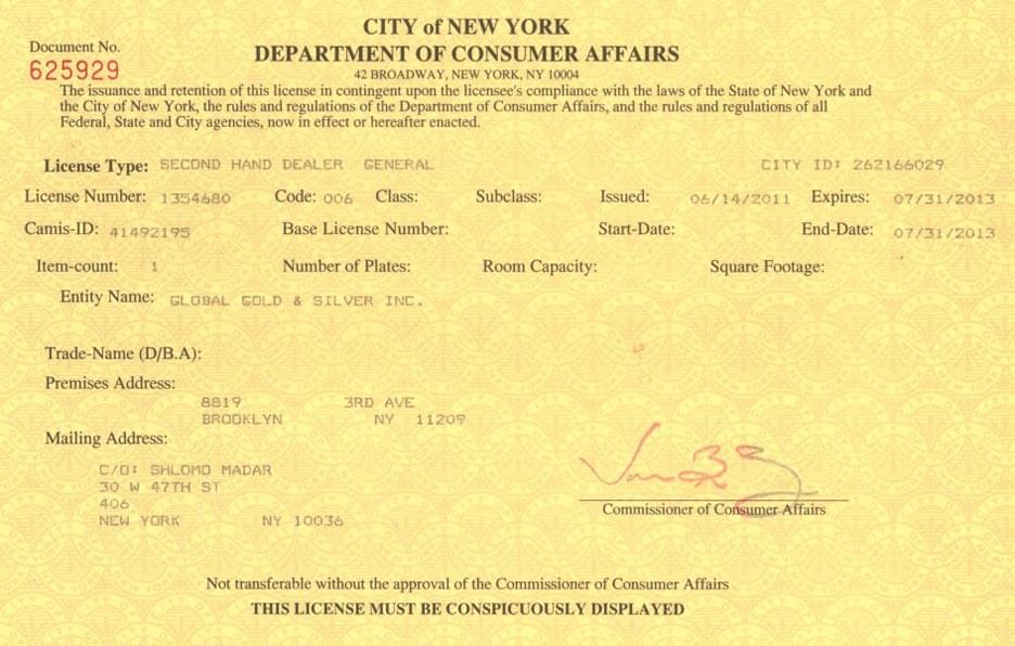 DCA License - Brooklyn