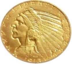 1/4 Ozt Gold Indain head