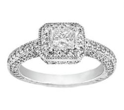.91 ct, Princess Cut Color G VS1
